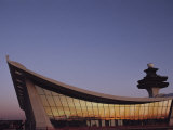 A Twilight View of Dulles International Airport Near Washington  DC
