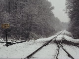 Snow Blanketed Railroad Tracks  Courtland  Virginia