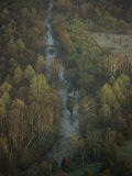 Aerial View of Bull Run Near the Famous Civil War Battlefield