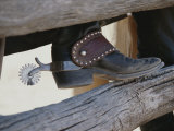 Close View of a Cowboy Boot  Complete with Silver Spur