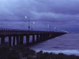 The Chesapeake Bay Bridge-Tunnel at Night
