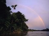 Rainbow over Amazon Rain Forest