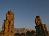 A View of the Crumbling Colossi of Memnon