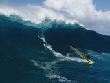 Windsurfing off the North Shore of Maui Island