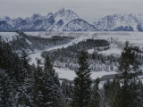Winter View of the Snake River  Grand Teton National Park