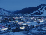 A View of Jackson  Wyoming at Dusk