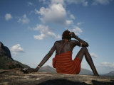 A Samburu Goatherd Takes a Break on the Top of a Hill