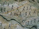 Ancient Pictographs on a Rock Wall