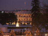 White House  from Elipse at Christmas