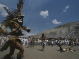 Traditional Dancing at the Pyramid of the Sun on the Spring Equinox
