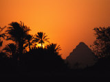 The Step Pyramid of Djoser Silhouetted by the Setting Sun