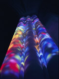 Bright Splashes of Color Illuminate a Pillar