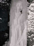 A Man Climbs the Lower Pitch on Schoolhouse on the Upper South Fork Valley