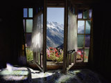 Large Windows Open to a View of the Bernese Alps