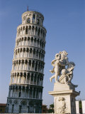 View of the Famous Leaning Tower of Pisa