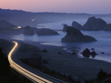 An Evening View of Highway 101 South of Gold Beach