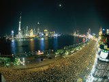Hoards of People Fill the Bund to Celebrate the Chinese National Day