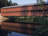 The Sachs Mill Bridge is Reflected in the Marsh River