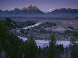 Dawn Strikes the High Ridge of the Teton Range