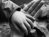 Boy Holding his Fathers Hand