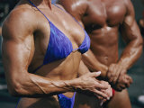 Body Builders  Both Male and Female  Gather for a 2-Day Competition on the Beach in Venice