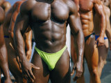 Body Builders Gather for a 2-Day Competition on the Beach in Venice