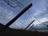 The Remains of a Barbed Wire Fence That Surrounded a Concentration Camp for Political Prisoners