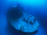 Overhead View of a Shipwreck on the Seafloor