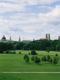 View of the English Garden in Munich  Germany