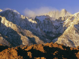 Snow Blows from the Slopes of Mount Whitney