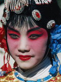 Chinese Woman in Theatrical Makeup and Costume