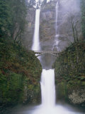 A Bridge over a Portion of Multnomah Falls in Oregon