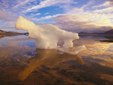 Small Iceberg Stranded on an Ellesmere Island Shore by an Ebb Tide