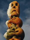 Stacked Halloween Pumpkins