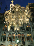 Exterior View of an Antoni Gaudi Building in Barcelona