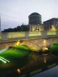 View of the Four Courts and the Liffey River