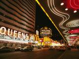 View of Downtown Las Vegas at Night