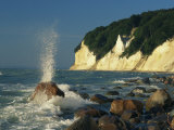 White Chalk Cliffs of the Island of Rugen at Jasmund National Park