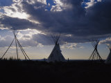 A Cluster of Teepees and Frames in a New Mexico Field