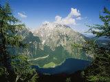 Watzmann Massif and Konigssee Lake  Berchtesgaden National Park