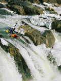 Kayaker at the Top of a Waterfall  Great Falls on the Potomac River