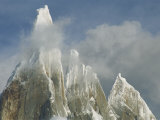 The Summit of Cerro Torre Massif Rises Through the Clouds