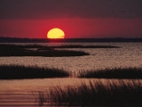 Sunset over Chincoteague Island Marsh  Virginia