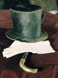 Abraham Lincolns Hat  Cane  and Gloves