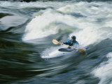 Whitewater Kayaker Surfing Standing Wave  Lochsa River  Idaho
