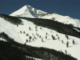 Elevated View of Slope at Big Sky Ski Resort