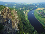 Aerial View  Sachsische Schweiz National Park  Germany