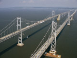 An Aerial View of the Chesapeake Bay Bridge