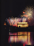 July 4th Fireworks over the Lincoln Memorial and Potomac River