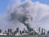 Smoke Billows over Manhattan after the September 11  2001 Attack
